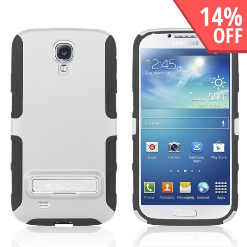 Seidio White/ Black Active Series Hard Cover Over Silicone w/ Kickstand for Samsung Galaxy S4 - CSK3SSGS4K-GL