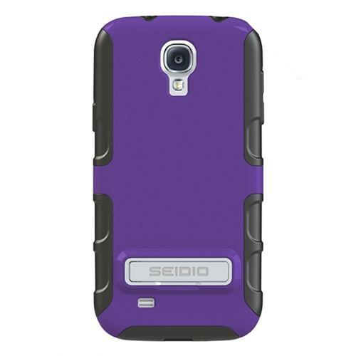 Seidio Purple/ Black Active Series Rubberized Hard Cover Over Silicone w/ Kickstand for Samsung Galaxy S4 - CSK3SSGS4K-PR