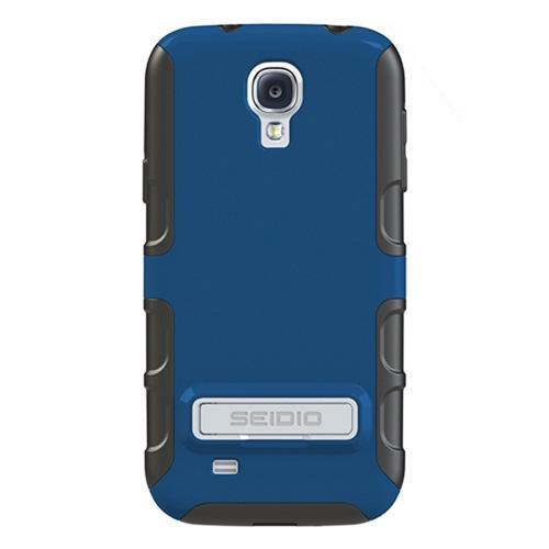 Seidio Royal Blue/ Black Active Series Rubberized Hard Cover Over Silicone w/ Kickstand for Samsung Galaxy S4