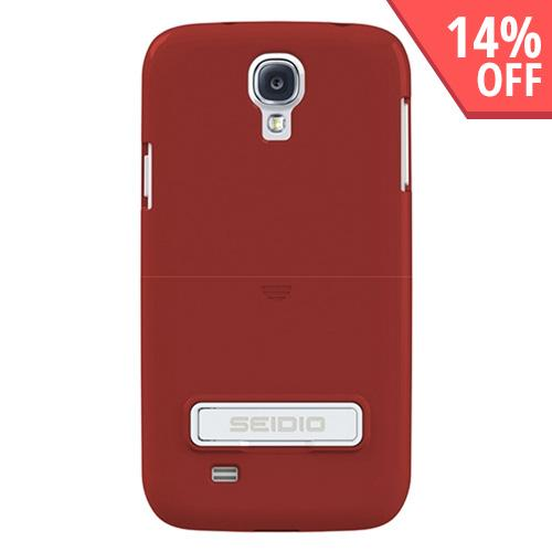 Seidio Garnet Red Surface Rubberized Slide-On Hard Case w/ Kickstand for Samsung Galaxy S4 - CSR3SSGS4K-GR