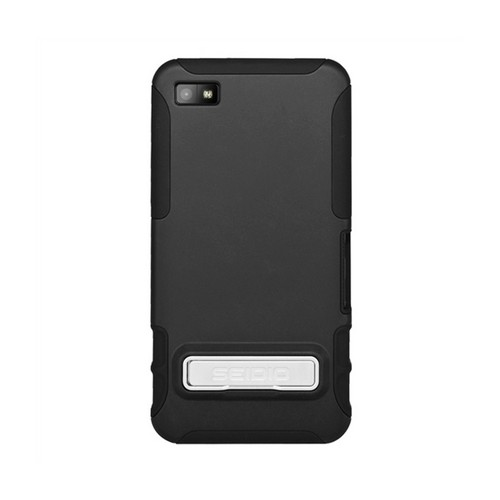 Seidio Black Active Combo Rubberized Hard Cover Over Silicone w/ Kickstand & Holster for Blackberry Z10