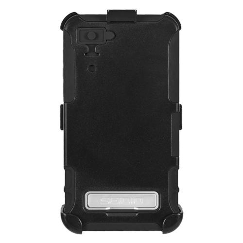 Seidio Black Convert Combo Hard Cover Over Silicone w/ Kickstand, Holster, & Belt Clip for Blackberry Z10
