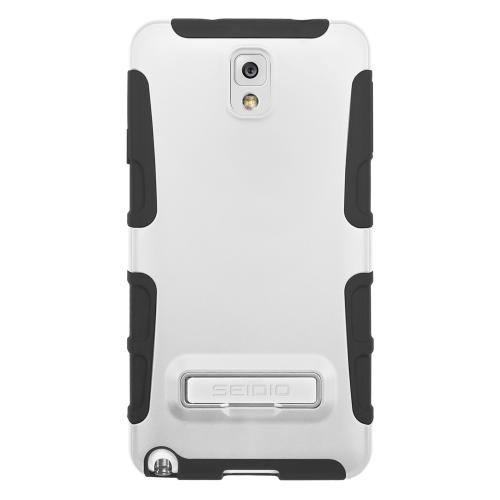 Seidio White Active Series Hard Cover Over Silicone w/ Kickstand for Samsung Galaxy Note 3 - CSK3SSGT3K-GL