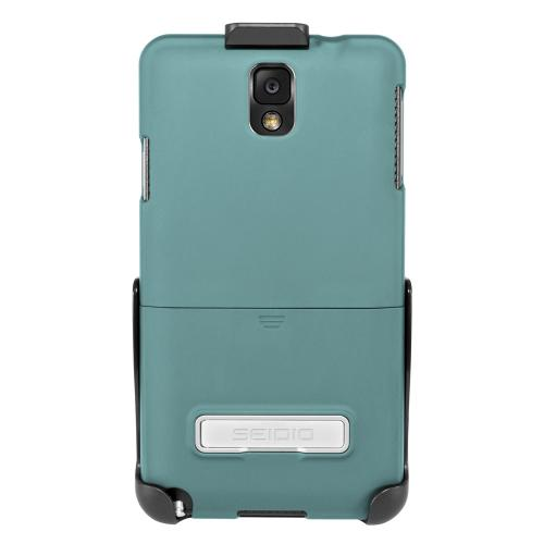 Seidio Teal Surface Combo Series Rubberized Hard Cover Case w/ Kickstand & Holster for Samsung Galaxy Note 3 - BD2-HR3SSGT3K-TL