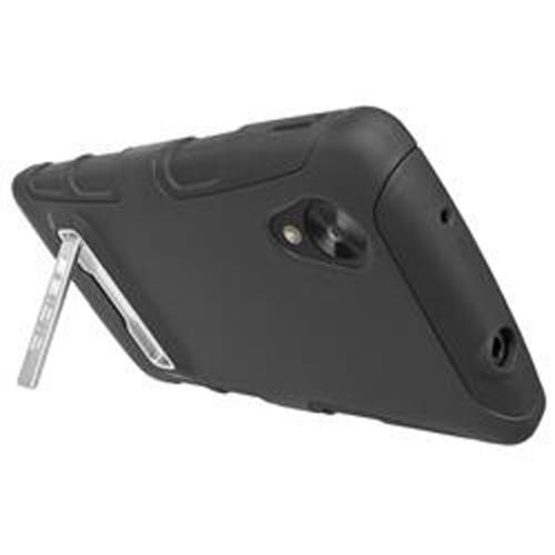 Seidio Black DILEX Combo Series Rubberized Hard Cover Over Silicone w/ Kickstand & Holster for LG Google Nexus 5 - BD2-HK3LGN5K-BK