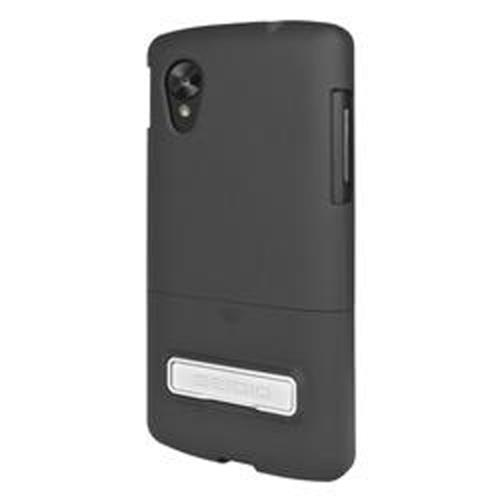 Seidio Black Surface Rubberized Slide-On Hard Case w/ Kickstand for LG Google Nexus 5 - CSR3LGN5K-BK