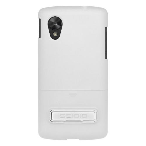 Seidio White Surface Glossy Slide-On Hard Case w/ Kickstand for LG Google Nexus 5 - CSR3LGN5K-GL