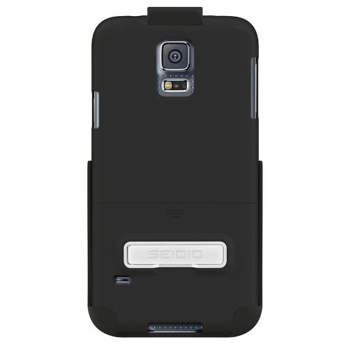 Seidio Black Samsung Galaxy S5 Surface Combo Series Rubberized Hard Case Case W/ Kickstand & Holster , Great Otterbox Alternative!