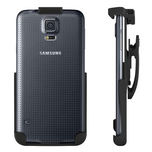 Seidio Black Samsung Galaxy S5 Spring Clip Holster w/ Swivel Belt Clip (HLSSGS5AS) - Perfect to Use w/ No Case on!