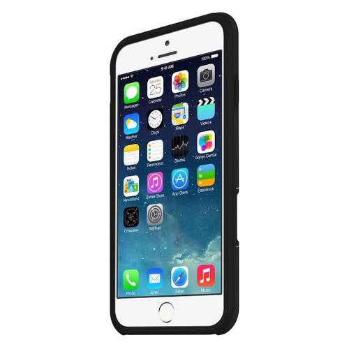 "Seidio Black Apple Iphone 6 (4.7"") Dilex Pro Series Rubberized Hard Case W/ Kickstand On Silicone Skin - Fantastic Shock Absorbing Protection!"