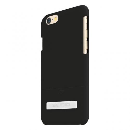 iPhone 6 Case by Seidio [Black] Surface Series Featuring Harden Slim & Protective Rubberized Matte Polycarbonate with Built-in Kickstand