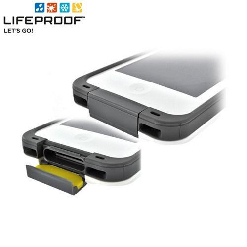 Lifeproof AT&T/ Verizon Apple iPhone 4, iPhone 4S Water/Dirt/Snow/Shock Proof Hybrid Case - White/ Gray