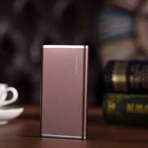 Elf 6000mAh Ultra-Slim Portable External Battery Power Bank- Coffee Brown - XX001