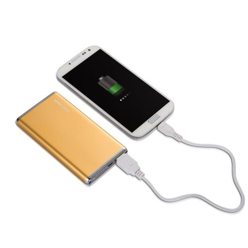 Elf 6000mAh Ultra-Slim Portable External Battery Power Bank- Gold - XX001