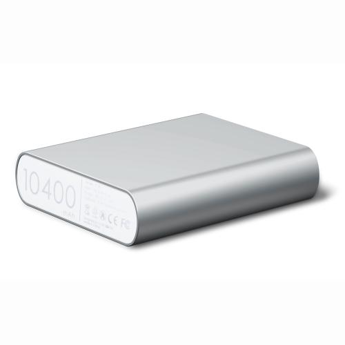 P100 10400 mAh Power Bank External Battery Charger -Silver - XX001