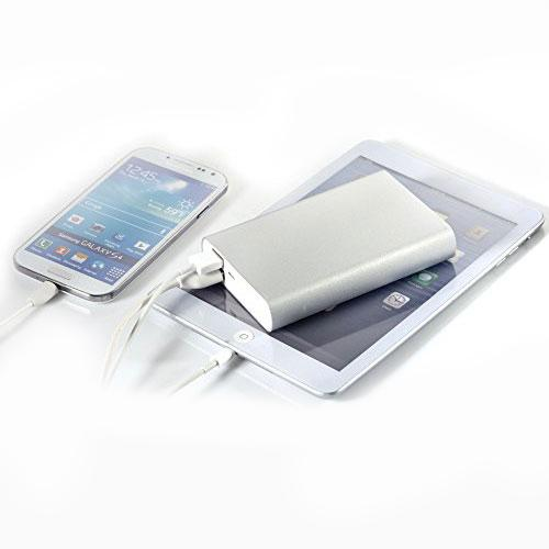 Extra Large Capacity (13000 mAh) Power Bank Dual USB Ports [2A] with Built-in Short Circuit Protection