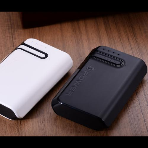 Blue Point 7800mAh 2-in-1 Portable External Battery Charger w/ Bluetooth Headset-White - XX001