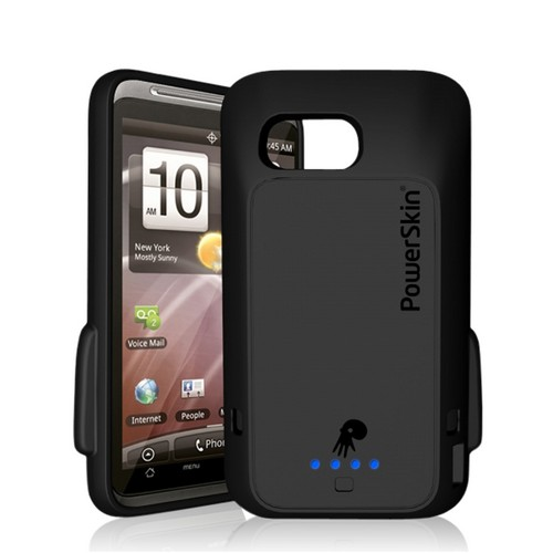Black OEM PowerSkin Silicone Charging Case for HTC Thunderbolt (Doubles Battery Life!)