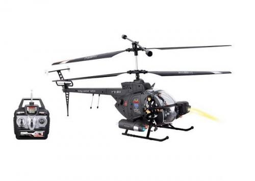 "18"" 3CH Defender Military Heli RTF w/LED Lights+Gyro+Action Figures!"