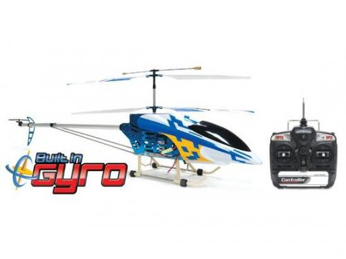 "49"" FXD 3.5 3CH Gyro Metal Frame RC Helicopter with LED lights! Blue"