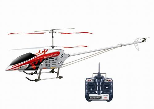 "49"" FXD 3.5 3CH Gyro Metal Frame RC Helicopter with LED lights! Red"