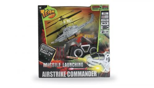 "8"" Team-RC Missile Heli Airstrike Commander w/Gyro (Yellow)"