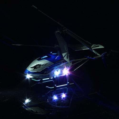 "JXD 340 Drift King 4CH Metal RC Helicopter 10"" RTF [BLUE]"