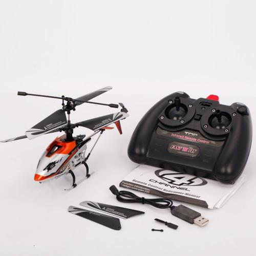 "JXD 340 Drift King 4CH Metal RC Helicopter 10"" RTF [Orange]"