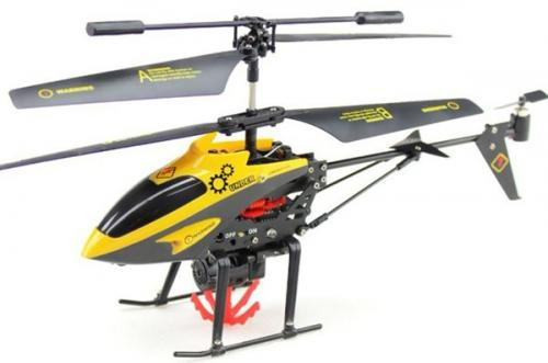 "9"" V388 3.5ch RC Rescue Transport Helicopter with Gyro Yellow"