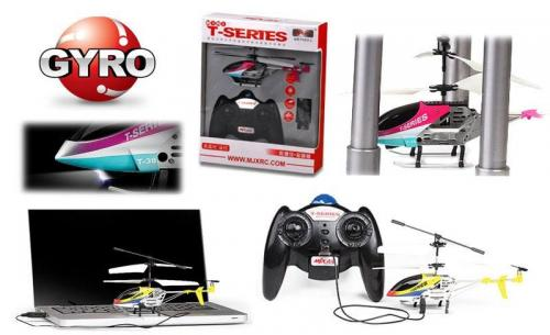"7"" MJX T638 Mini Thunderbird RC Helicopter Red"