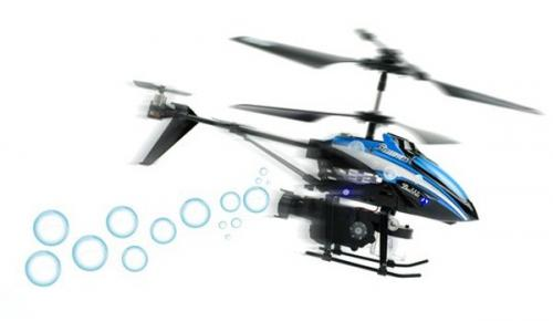 "8"" WL V757 Bubble Master 3.5CH RC Bubble Helicopter with Gyro Blue"