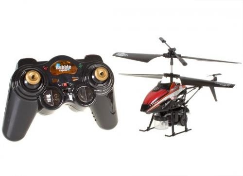 "8"" WL V757 Bubble Master 3.5CH RC Bubble Helicopter with Gyro Red"