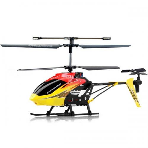 "14.5"" Syma S32 Metal Lightning 3CH 2.4Ghz RC Helicopter Red"
