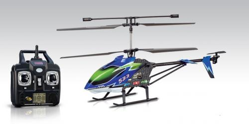 "30.5"" Syma S33 Metal 3CH 2.4Ghz RC Helicopter Blue"