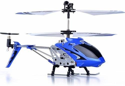 "8.7"" Mini 3CH S107 Metal Helicopter w/Gyro Blue"