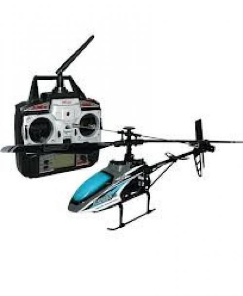"MJX F-SERIES F46 4CH 2.4GHz Single Blade RC Helicopter 10"" with Servo [Blue]"