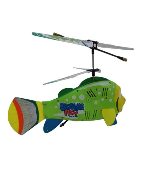"8"" 3.5CH RC Bubble Fish Helicopter with Gyro Green"