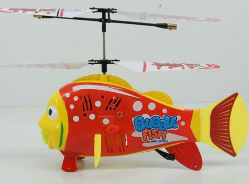 "8"" 3.5CH RC Bubble Fish Helicopter with Gyro Red"