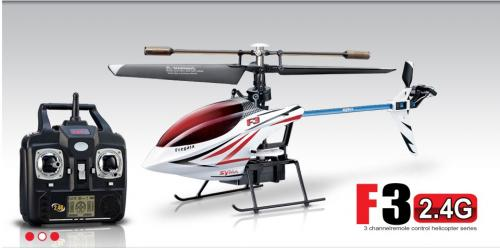 "10"" Syma F3 4CH 2.4G Singer Rotor Helicopter White"