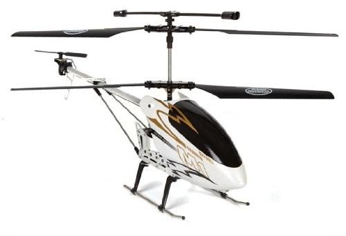 "30"" M1 Skytech Hurricane RC Helicopter 3CH GYRO LED RTF White"