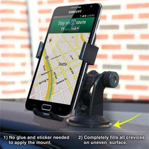iOttie Black Easy One Touch XL Car Mount for Phones (Can fit Galaxy Note Sized Devices!) - HLCRIO101