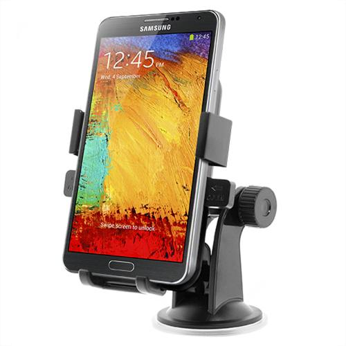 iOttie Black Easy One Touch XL Universal Car Mount for Phones (Can fit Galaxy Note Sized Devices!) - HLCRIO101