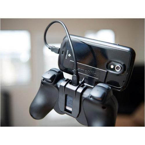 GameKlip Black Universal DualShock 3 Controller Mount w/ Charging Cable for Cellphones