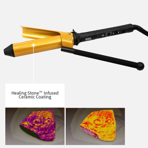 Glampalm Ceramic Professional Styling Curling Iron , 1 inch + Free Heat Resistant Suede Pouch