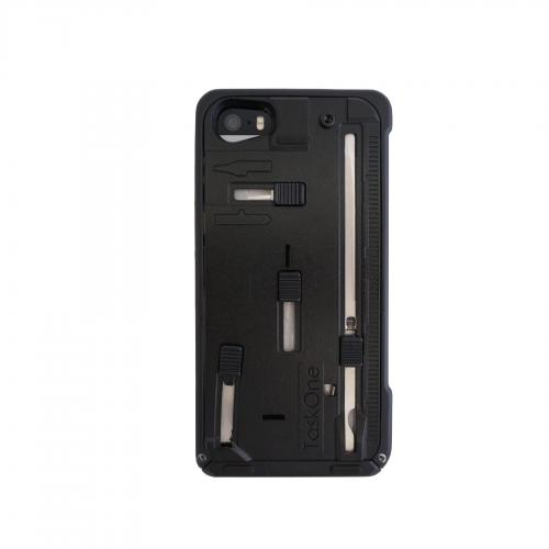 iPhone 5/5s Taskone G3 Utility Case by Task Lab [Black] Featuring Protective Harden Polycarbonate w/ 22 Built-in Stainless Steel Tools