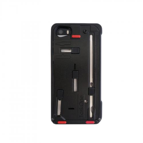 iPhone 5/5s Taskone G3 Utility Case by Task Lab [Ren Accent] Featuring Protective Harden Polycarbonate w/ 22 Built-in Stainless Steel Tools