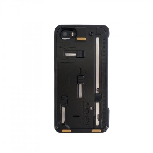 iPhone 5/5s Taskone G3 Utility Case by Task Lab [Tan Accent] Featuring Protective Harden Polycarbonate w/ 22 Built-in Stainless Steel Tools