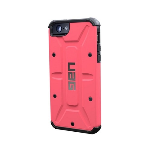 OEM Urban Armor Gear Apple iPhone 5 Hybrid Hard Cover On Silicone Case w/ Screen Protector - Hot Pink/ Black
