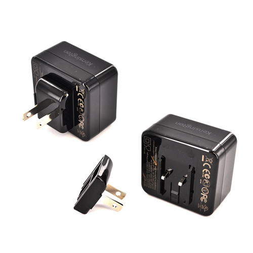 Kensington Black AbsolutePower Dual USB Wall Charger (4200 mAh) - Charge 2 Tablets at Once!