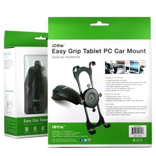 "iOttie Black Easy Grip Universal Dashboard Car Mount Holder for iPad & Tablets (up to 10"") - HLCRIO103"